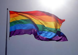 Rainbow flag for primary school new entrants at North East Valley Normal School