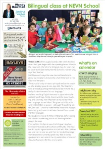A feature on our bilingual class in the Valley Voice - our local community newsletter