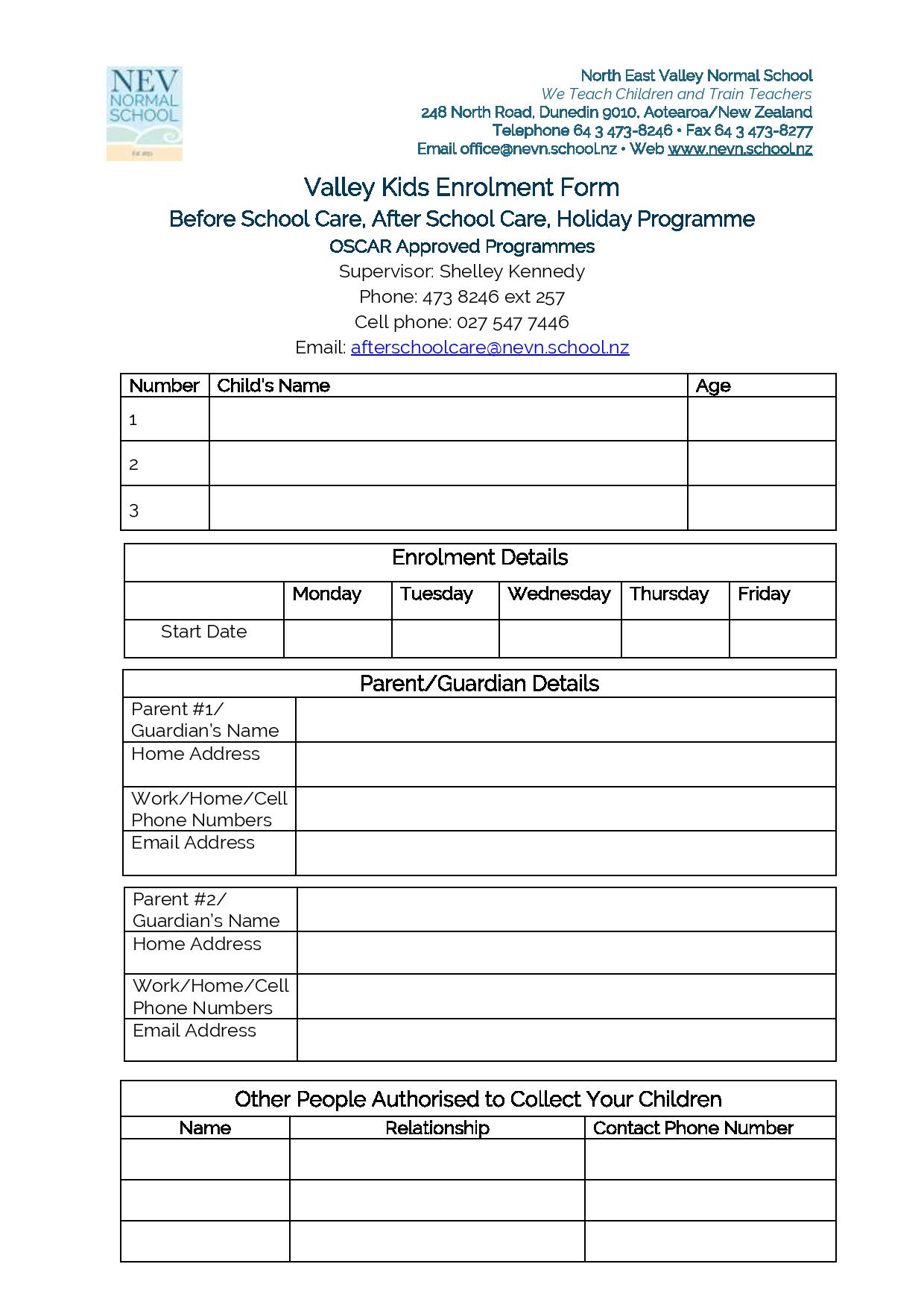 Valley Kids Enrolment Form-page-001